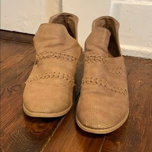 Tan Ankle Boots by Universal Thread